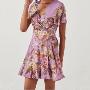 Spell & the gypsy blue skies lilac wrap dress